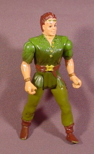"Peter Pan Learn To Fly Action Figure Hook Movie, 4 1/4"" Tall, 1991 Mattel, Tri-Star Pictures"