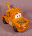 Disney Pixar The Cars Tow Mater Truck, Eyes Center, 4 1/2 Inches Long, Wobbles As It Rolls Along
