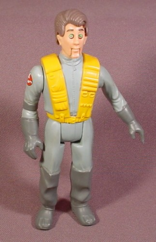 "Real Ghostbusters Peter Venkman Fright Features Action Figure, 4 3/4"" Tall, 1987 Kenner"