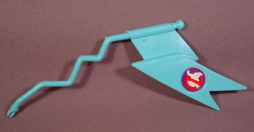 Real Ghostbusters Replacement Blue Flag On Crooked Pole For Ecto-3 Vehicle, 1986 Kenner