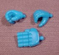 Gundam Set Of 3 Blue Hands For Mobile Suit Gundam Ms-07 Gouf 4 1/4