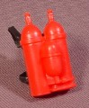 "A-Team Flame Thrower Backpack Accessory For 3 3/4"" Tall Action Figure, 1984 Galoob"
