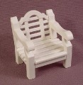 "Playmobil White Single Seat Lawn Or Patio Wood Slat Chair, 1 5/8"" Tall, 5323 5326 7929"