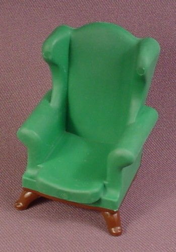"Playmobil Victorian Dark Green Wingback Armchair Furniture, 5320, 2 1/2"" Tall, Dining"