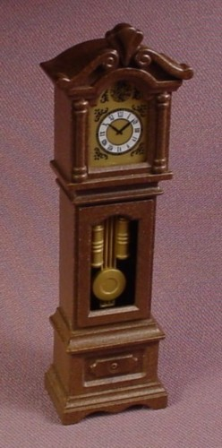 "Playmobil Victorian Dark Brown Grandfather Clock Furniture, 5320, 4"" Tall, Dining Room"