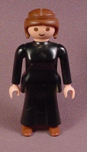 Playmobil Adult Female Victorian Maid Figure With All Black Outfit, 5320 5500, Dining Room