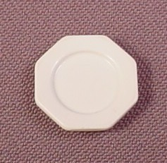 "Playmobil Victorian White Larger Octagonal Plate, 11/16"" Across, 3200 3254 3989 4308 5316 5320"