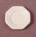Playmobil White Smaller Octagonal Plate, 5/8 Of An Inch Across, Victorian, 3200 3254 3989 4308 5316