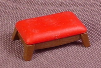 Playmobil Gold Victorian Footstool With A Red Or Dark Pink Cushion, Foot Stool, 3931 5320