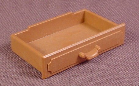 Playmobil Light Brown Replacement Drawer For A Victorian Style Bookcase Or China Cabinet, 5310 5320