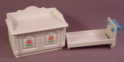 Playmobil Victorian White Change Changing Table With Slide Out Drawer, 5313, Nursery