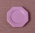 Playmobil Purple Victorian Octagonal Plate, 11/16 Inch Across, 5511, 30 61 3070