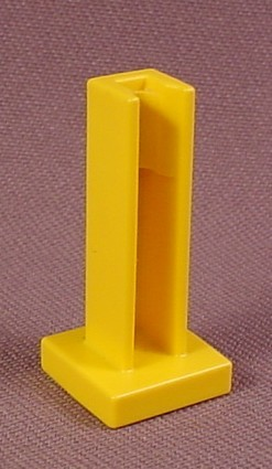 Playmobil Yellow Stand For Poles Or Signs, 3200 3254 3959 3976 3988 3989 4400 4410 5511 6293 6294