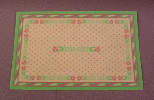 Playmobil Carpet Rug With A Green Border, 5325, Victorian Bedroom, 4 Inches Long, 2 5/8 Inches Wide