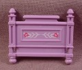 Playmobil Victorian Light Purple Bed Foot Board With Design, 5325, Bedroom