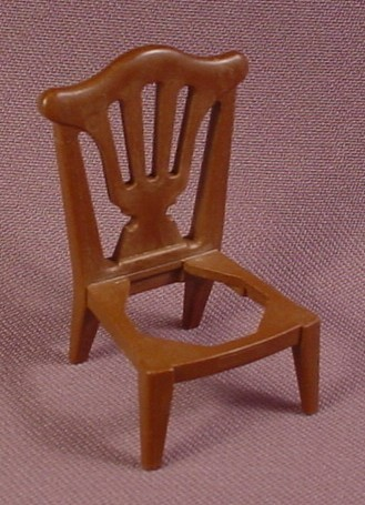 Playmobil Dark Brown Chair Patterned Back (No Seat), 5310 5320, Victorian Dining Living