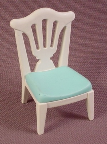 Playmobil White Chair With Aqua Blue Seat, 5339, Victorian Wedding Reception
