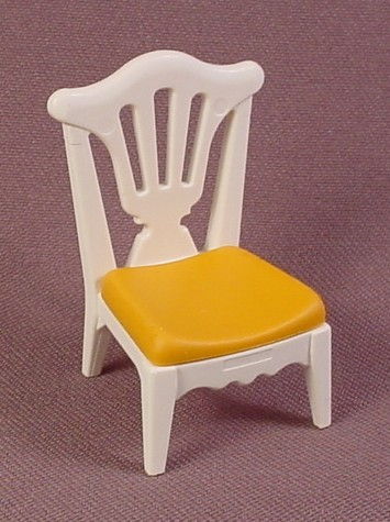 Playmobil White Chair With Yellow Gold Seat, 5312, Victorian Children's Bedroom