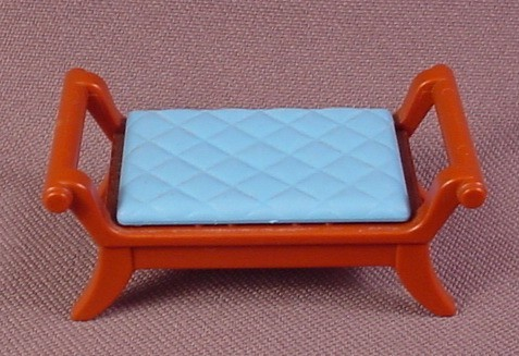 Playmobil Brown Victorian Dressing Stool Seat With A Blue Quilted Top, 5324