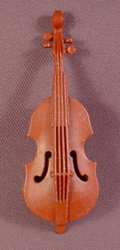 Playmobil Brown Double Base Or Viola, 3553 5339, Victorian, Circus, Musical Instrument