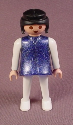 Playmobil Adult Female Magician's Assistant Classic Style Figure With A Glittery Blue Top