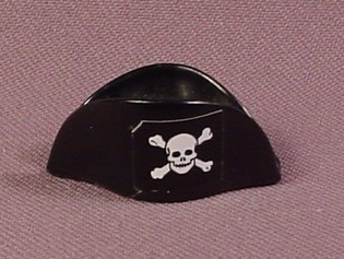 Playmobil Black Bicorne Hat With White Skull & Crossbones, 3480 3550, Pirates