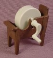 Playmobil Grindstone Or Whetstone In Brown Rack, 3487, Knights, Stone Spins