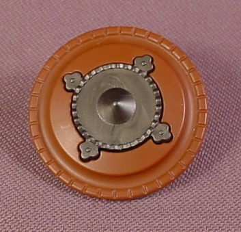 Playmobil Brown Round Shield With A Dark Gray Center, 3123 3329X 3665 3668 3669 3888 4063 4677 5293
