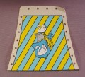 Playmobil Tent Cloth Side With Swan Crest & Blue & Yellow Stripes, 3654, Knights
