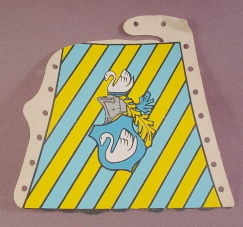 Playmobil Tent Cloth Door Cover Swan Crest & Blue & Yellow Stripes, 3654, Knights