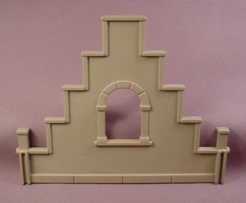 Playmobil Gray Castle Gable End With Arched Window Opening, 3450, Knights, Castle