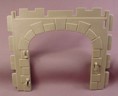 Playmobil Gray Castle Double Wall With An Arched Double Door Opening, Grey, 3446 3448 3449 3450 3556