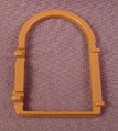 Playmobil Brown Arch Top Window Frame With Hinges, 3440 3448 3450 7109, Castle