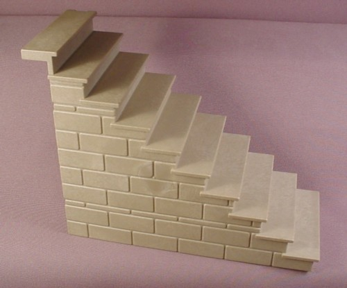Playmobil Stone Gray Exterior Stairs, 10 Steps, 3448 3450 3666, Castle