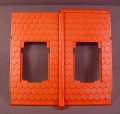 Playmobil Red Orange Tile Double Wide Roof 2 Window Openings, 3666 3716 5005 7109