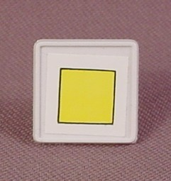 Playmobil White Diamond Shaped Sign With A Yellow Square Sticker And A Clip On The Back, 3204X 3204Y