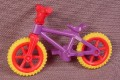 Playmobil Child Size Bicycle Or Mountain Bike With A Purple Frame And Red Handlebars & Rims