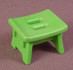 Playmobil Green Square Stool With Solid Side Legs, 3892, P3892A