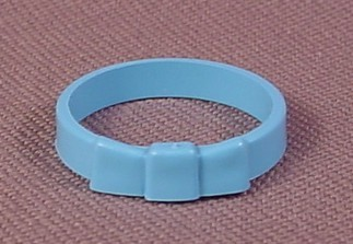 Playmobil Light Blue Victorian Style Hatband With A Flat Bow, No Number