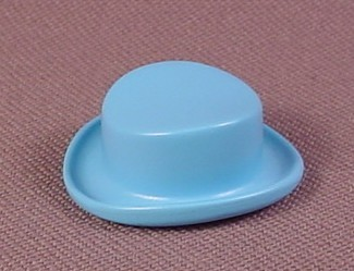 Playmobil Light Blue Low Top Hat With A Rolled Brim And A Rounded Crease In The Top, 5321 5345 5600