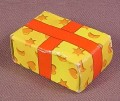 Playmobil Yellow & Red Cardboard Present Or Gift Box, 3366 3368 3604 3931 3955 3993 4058 5217 5494