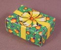 Playmobil Green Cardboard Present Or Gift Box, 3366 3368 3604 3993 5977, Christmas, 1 1/2 Inches