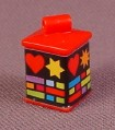 Playmobil Red Box Shaped Lantern With Christmas Wrap Sticker, 3368 3993 4326