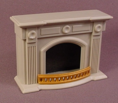 Playmobil Light Gray Fireplace With Grill And Back Panel, Furniture, 4150, 7788, Victorian