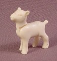 Playmobil White Baby Goat Kid Animal Figure With A Head That Moves, 3078 3243 3367 3368 3824 3993