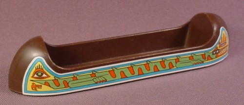 Playmobil Dark Brown Indian Canoe With Stickers On Both Sides, 3483, Western, P3483E