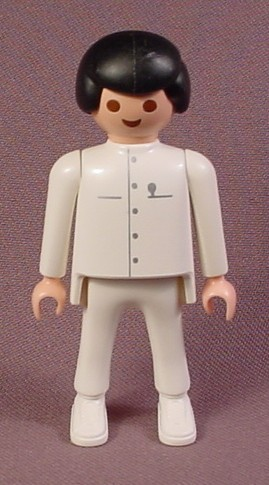Playmobil Male Dentist Figure, White Clothes Silver Trim, 3762, Dentist's Office