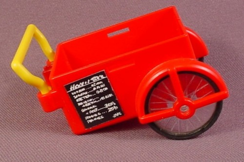 Playmobil Red Hot Dog Cart With Yellow Handle & Wheels, 3848 7781, Hot Dog Stand