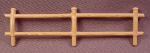 Playmobil Light Brown Fence With 3 Posts That Fit Into A Base, 3638 3893 4131 5123 5766 5767, Zoo
