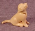 Playmobil Beige Puppy Dog Animal Figure, Sitting Pose, 3005 4598 4687 5870